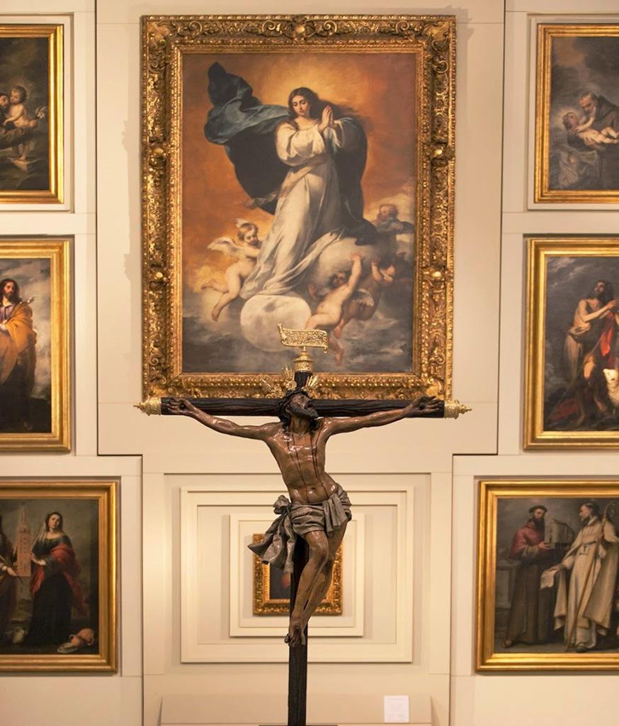 arte sacro : Cristo del Museo. Semana Santa de Sevilla.